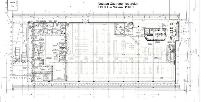 Neubau Edeka Gastro in Niefern