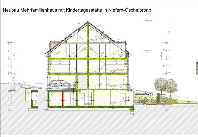 Neubau Mehrfamilienhaus und Kindertagesstätte Niefern